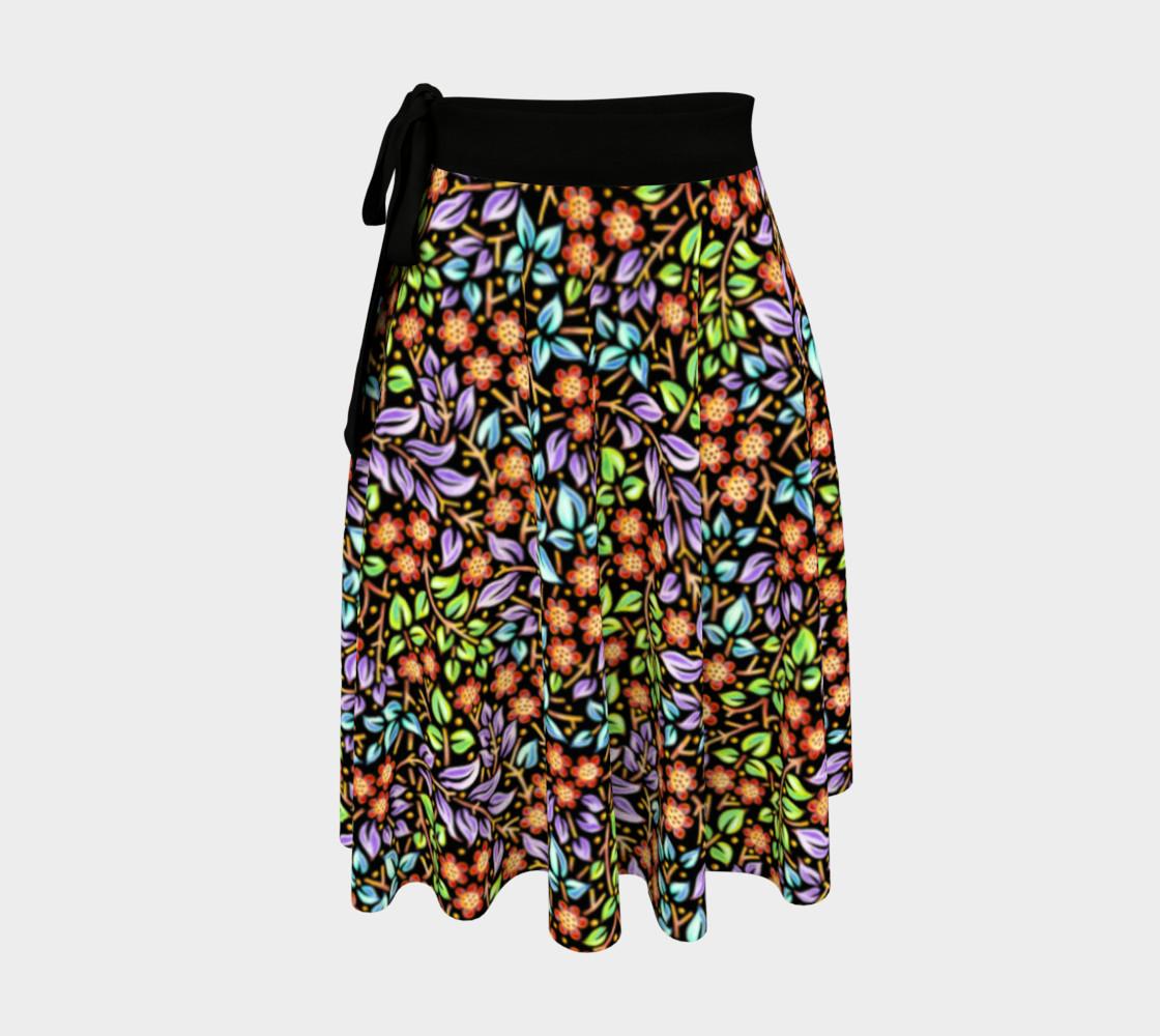Filigree Floral Ditsy Circle Skirt preview #1