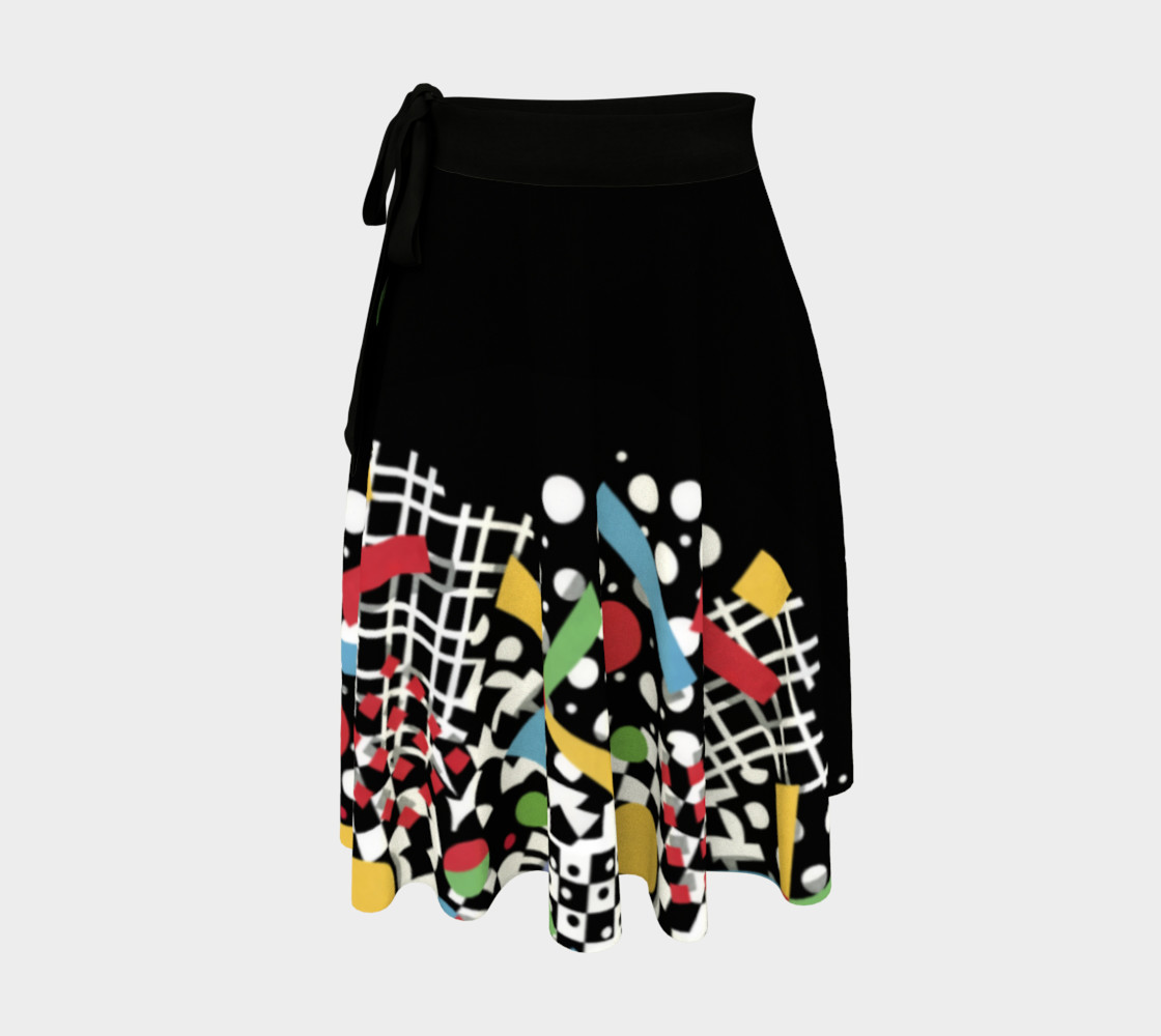 Ticker Tape Placement Circle Skirt preview #1