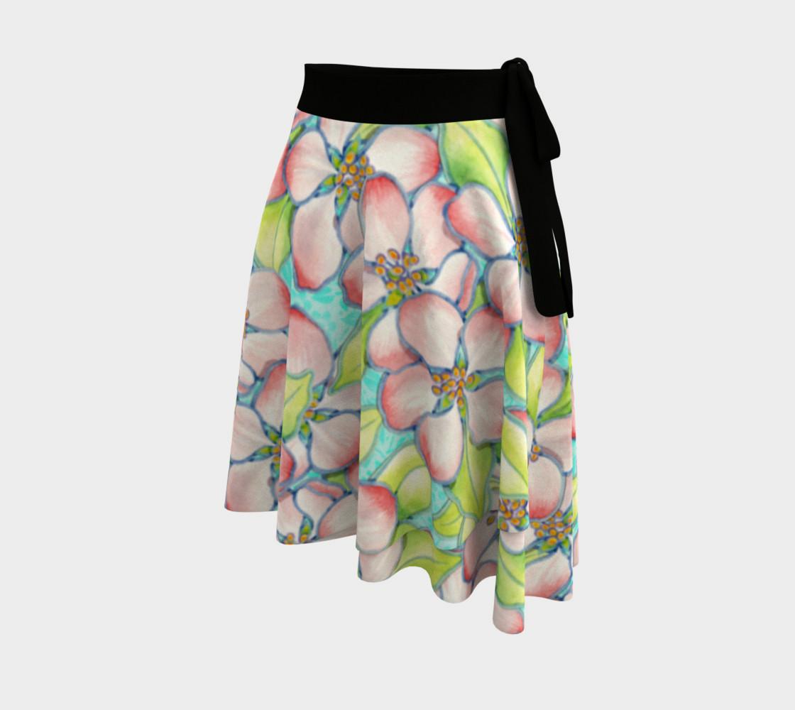 Aperçu de Spring Apple Blossoms Circle Skirt #2