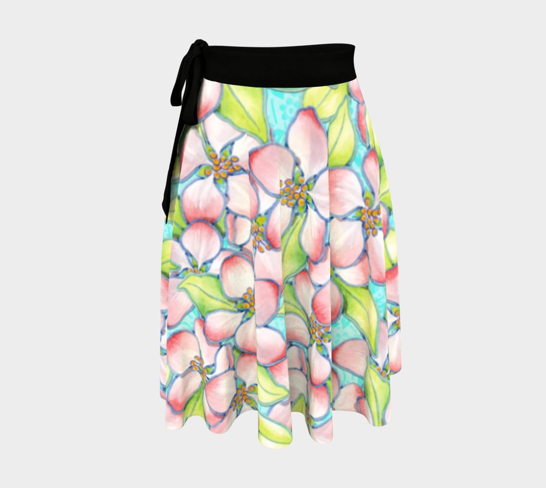 Aperçu de Spring Apple Blossoms Circle Skirt #1