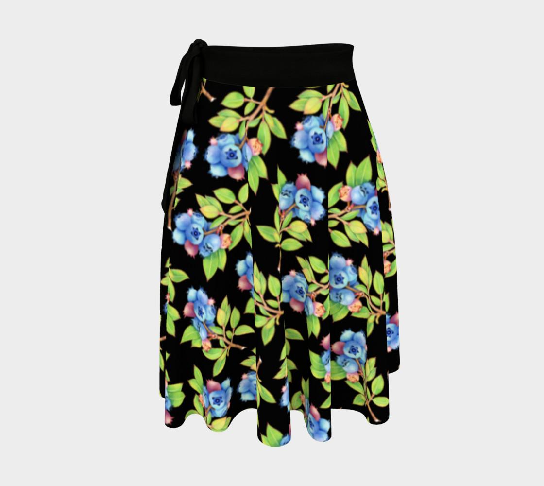 Aperçu de Blueberry Sprigs Circle Skirt #1