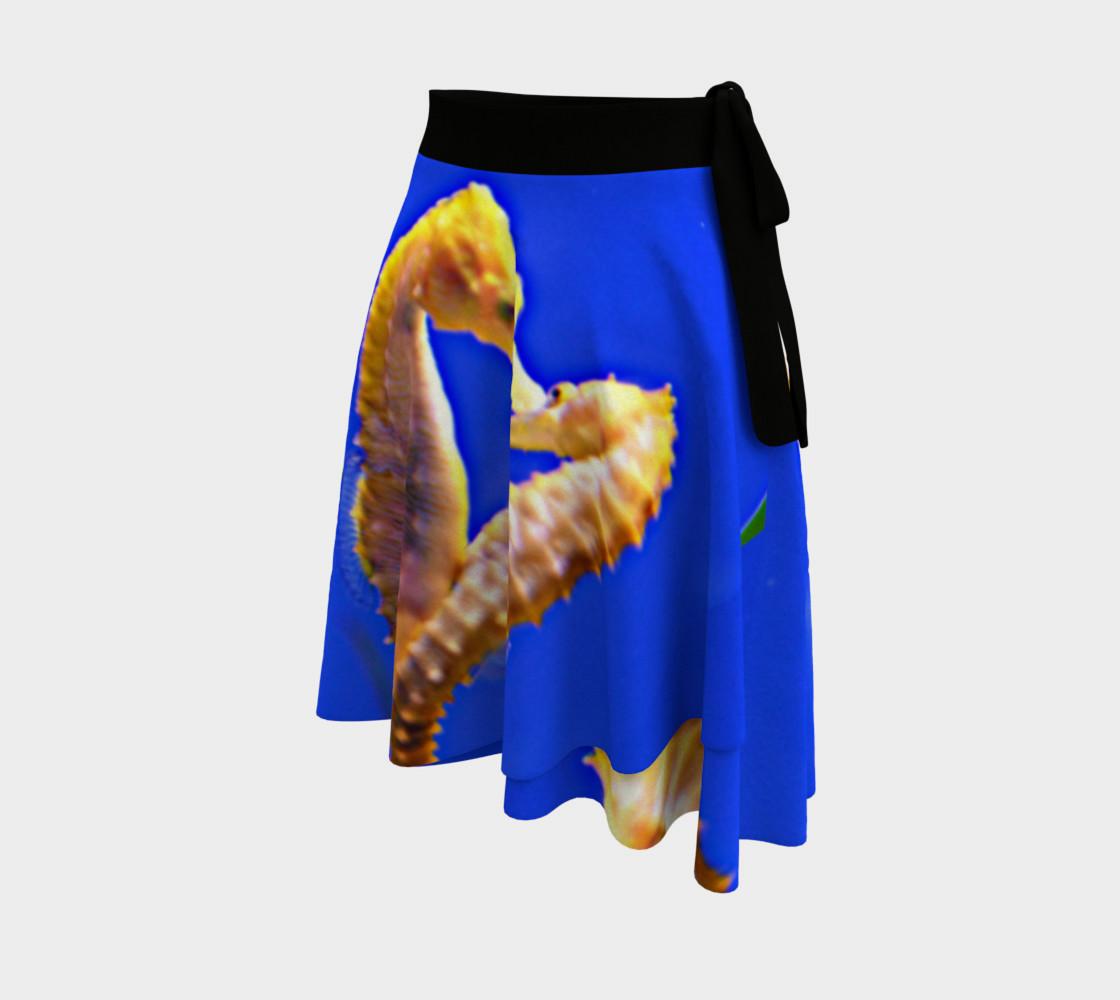 Dancing Sea Horses Wrap Skirt  preview #2