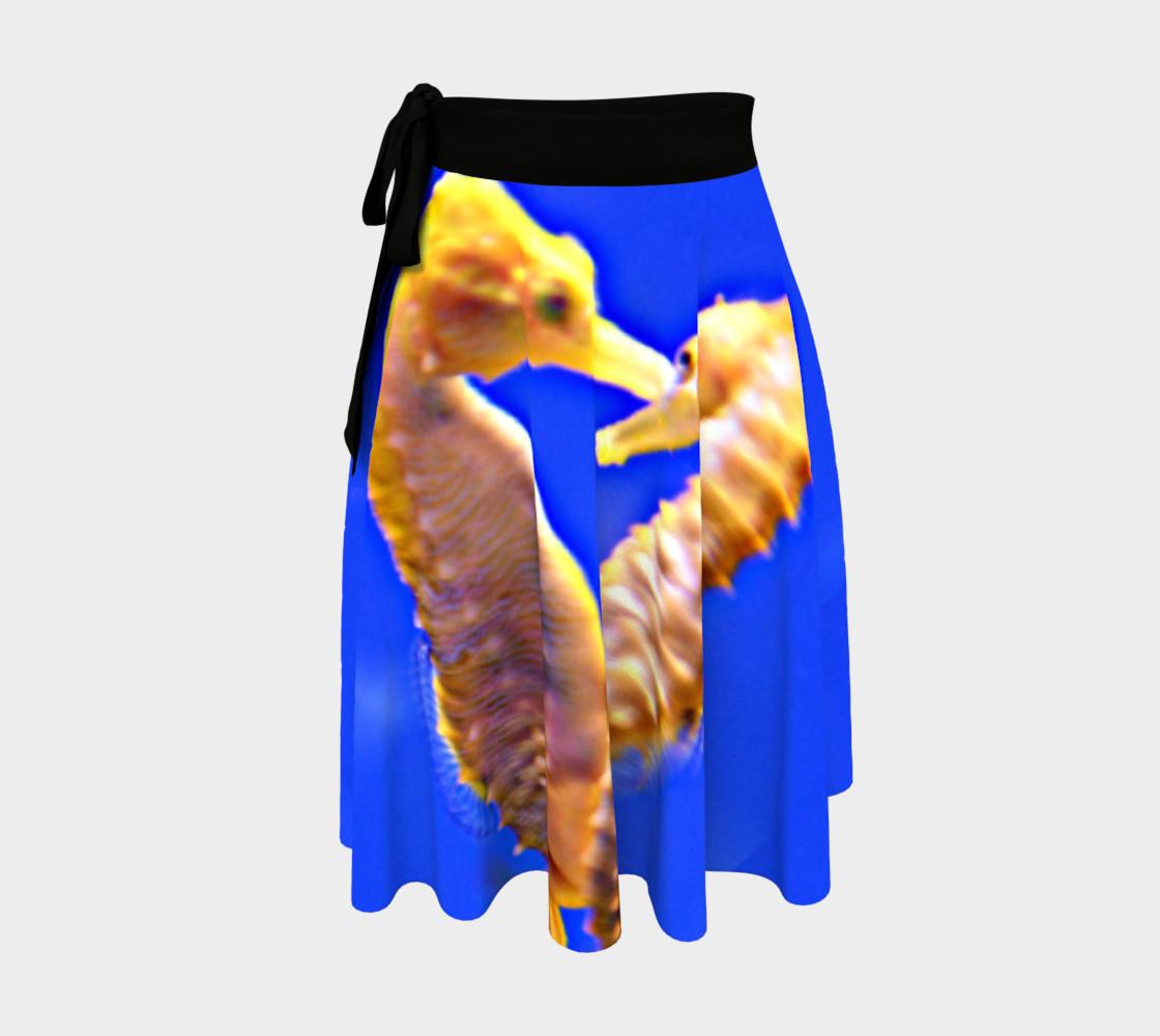 Dancing Sea Horses Wrap Skirt  preview #1