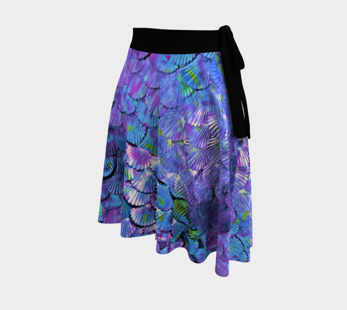 Purple Mermaid Scale Wrap Skirt  preview #2