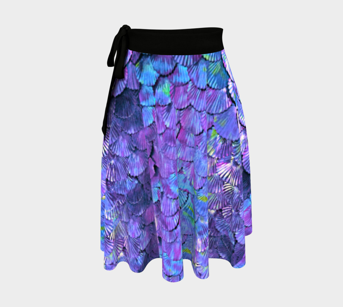 Purple Mermaid Scale Wrap Skirt  preview #1
