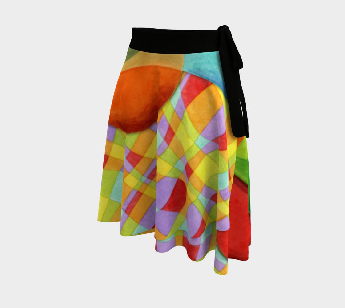 Groovy Rainbow Geometric Circle Skirt preview #2