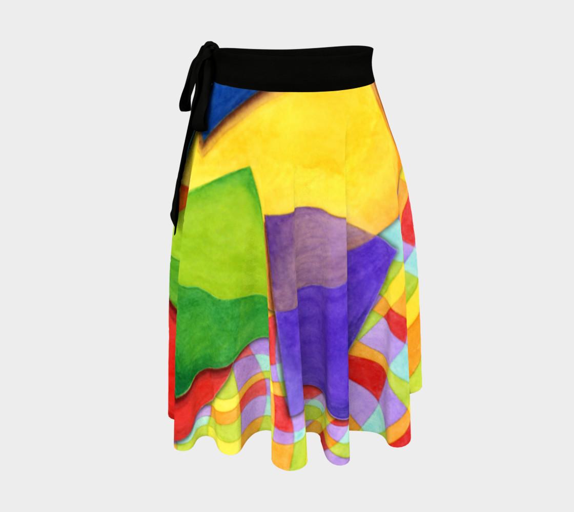 Groovy Rainbow Geometric Circle Skirt preview #1
