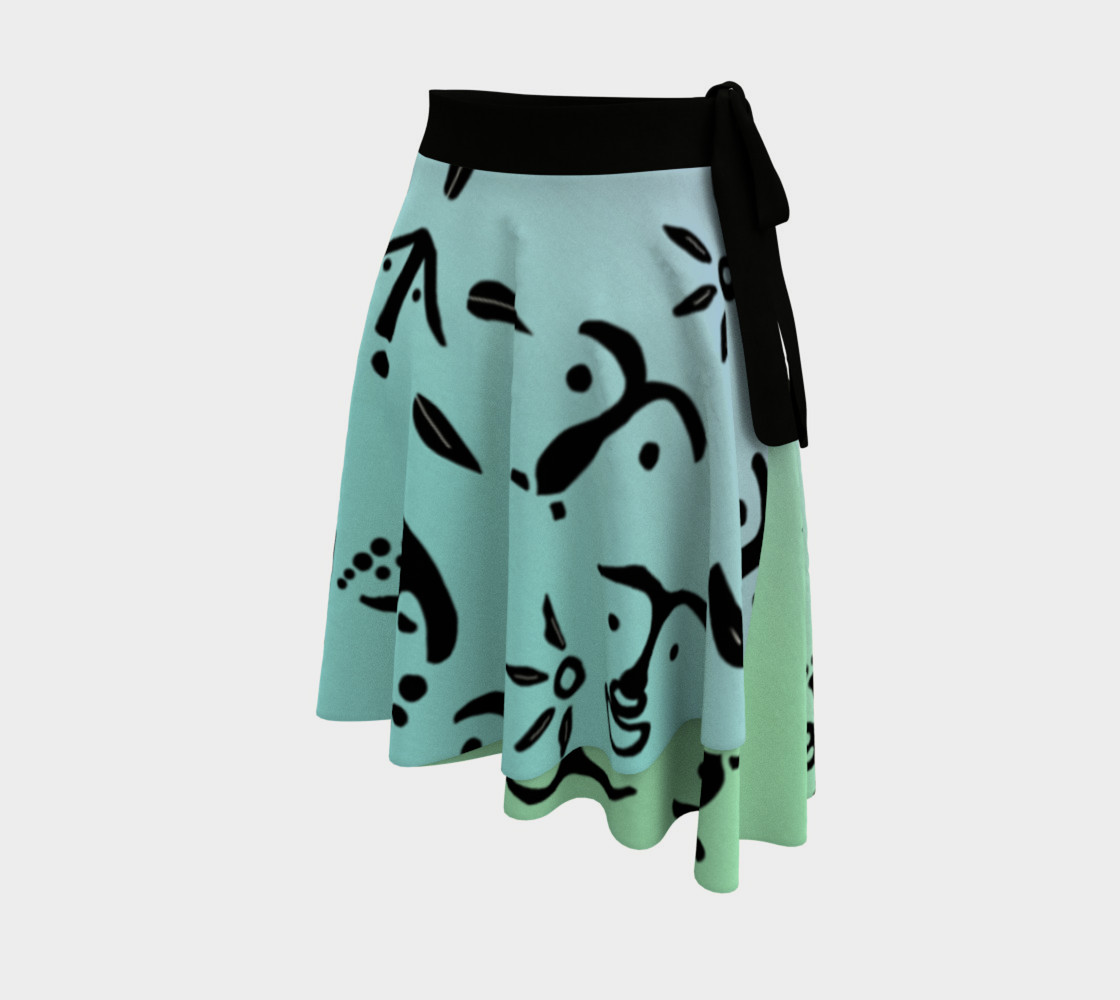 Multi Color Wrap Skirt preview #2