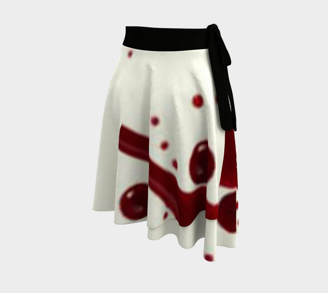 Blood Splatter four wrap skirt preview #2