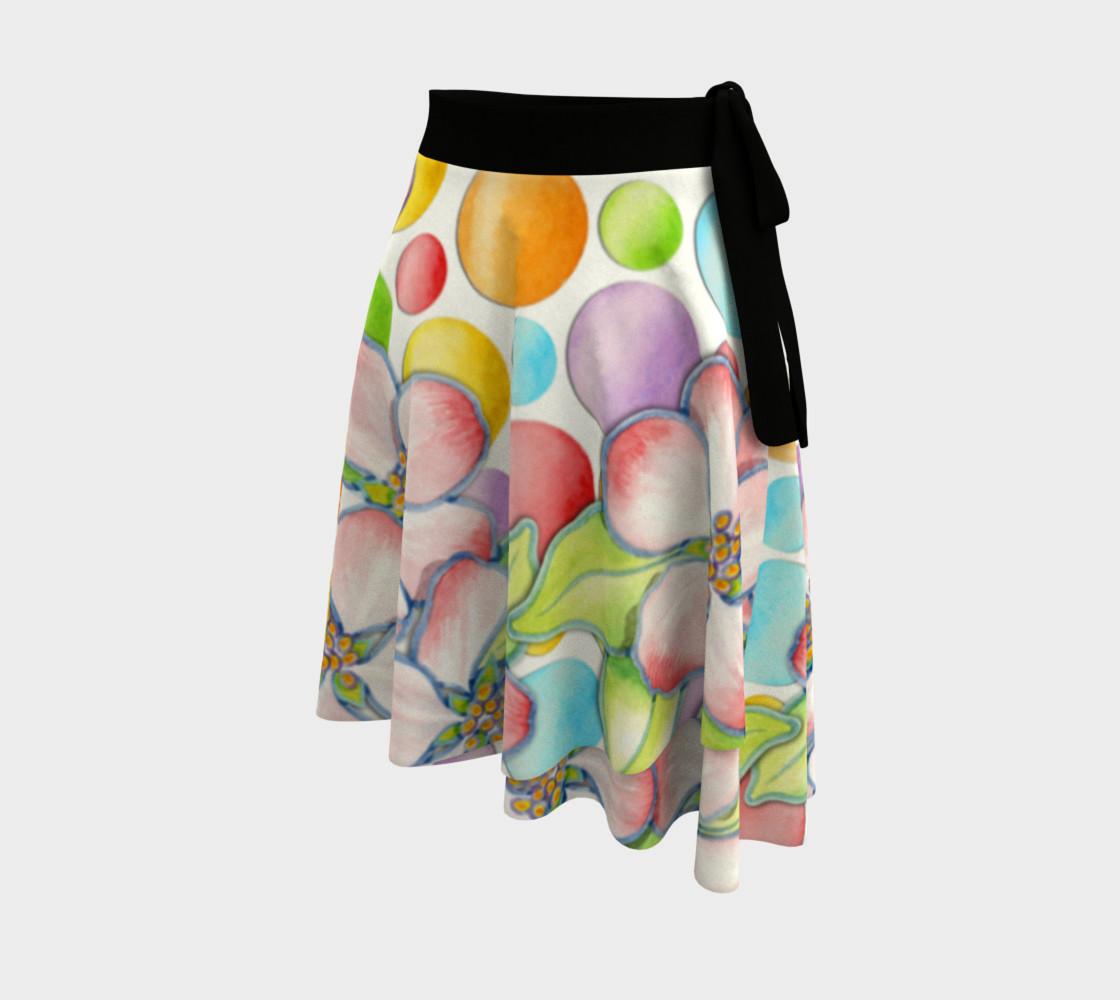 Aperçu de Large Apple Blossom Dots Circle Skirt #2
