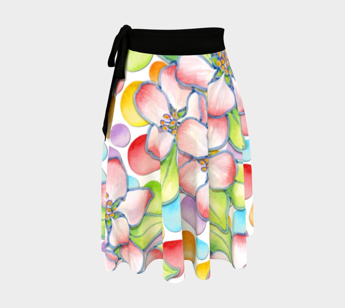 Aperçu de Large Apple Blossom Dots Circle Skirt #1