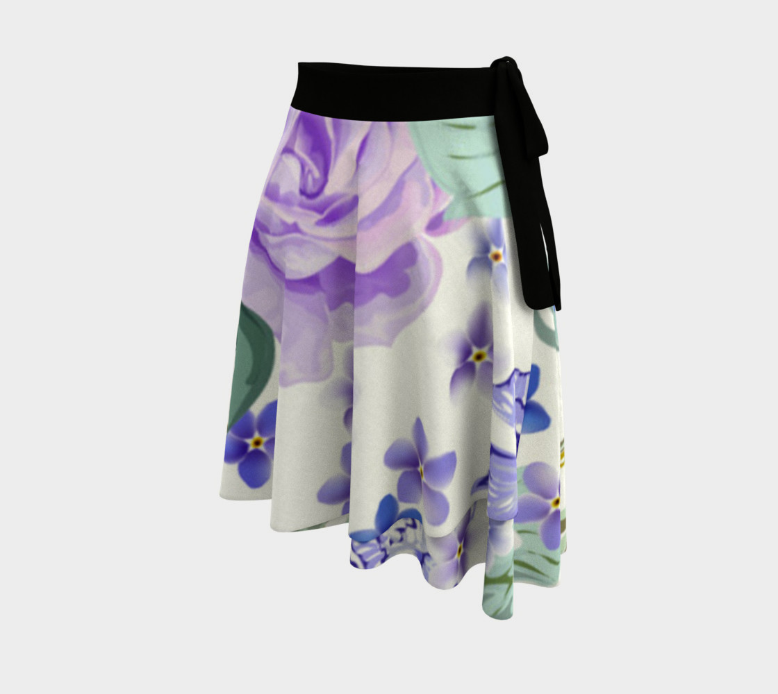 Lovely Lavender Floral Skirt preview #2