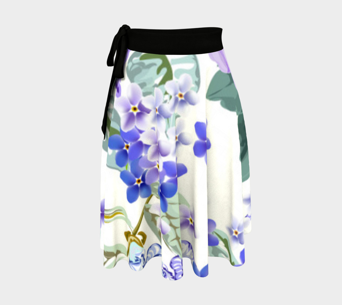 Lovely Lavender Floral Skirt 3D preview
