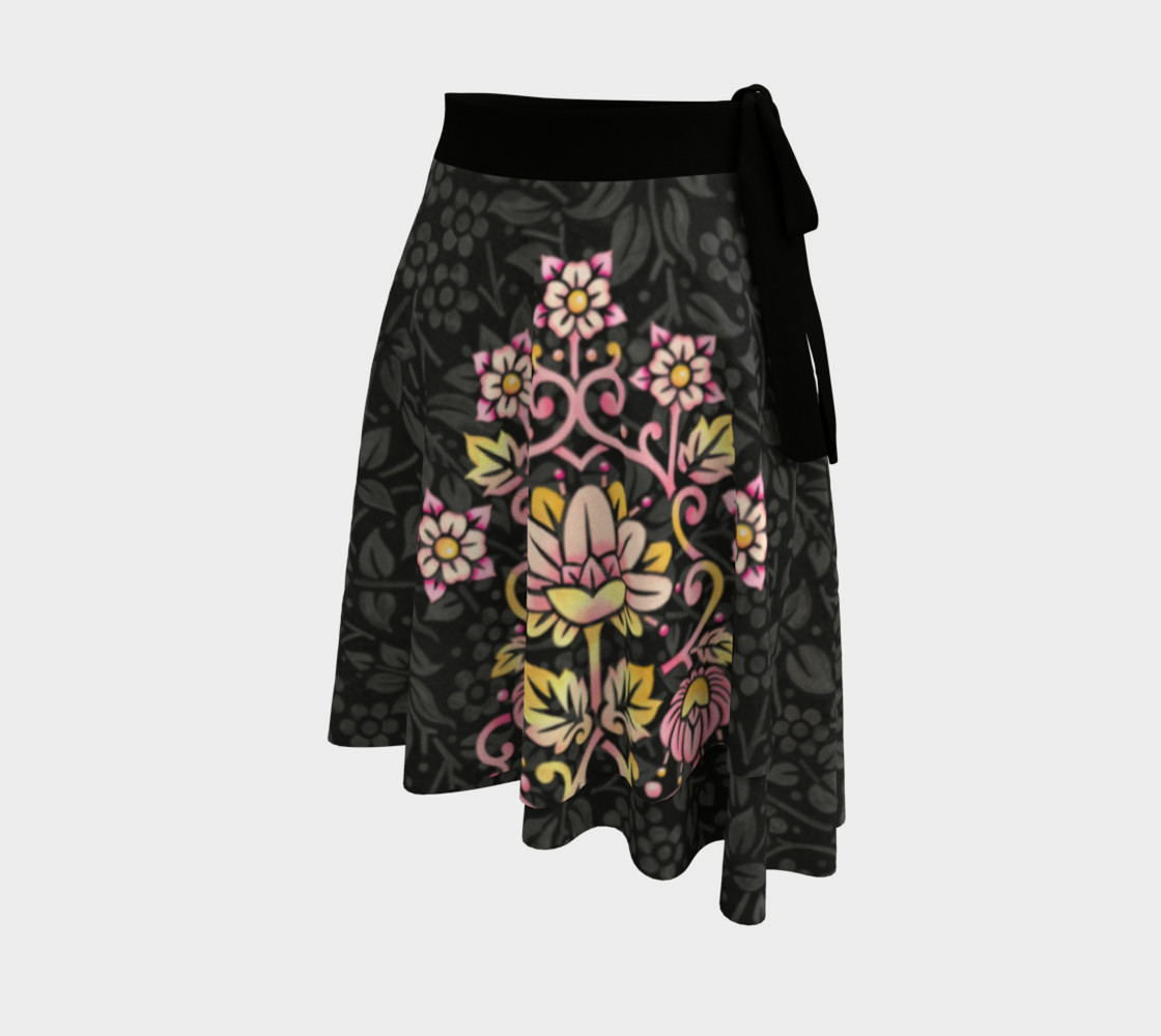 Aperçu de Rose Damask Circle Skirt #2