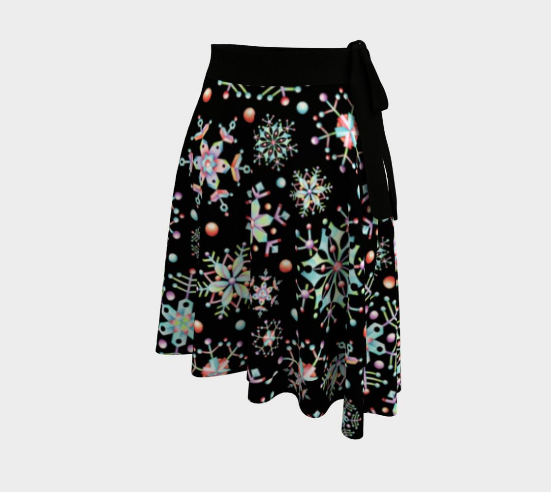 Aperçu de Prismatic Snowflake Circle Skirt #2