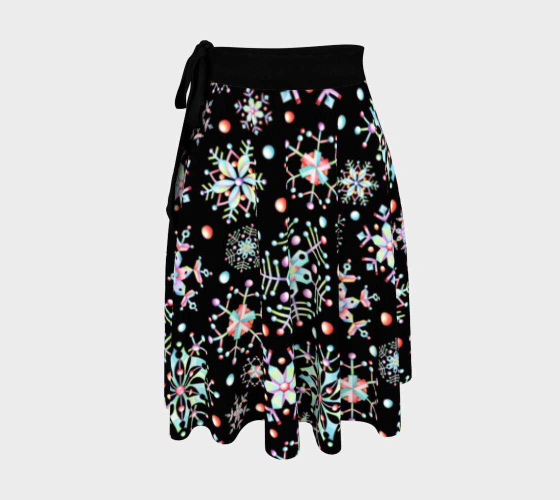 Aperçu de Prismatic Snowflake Circle Skirt #1