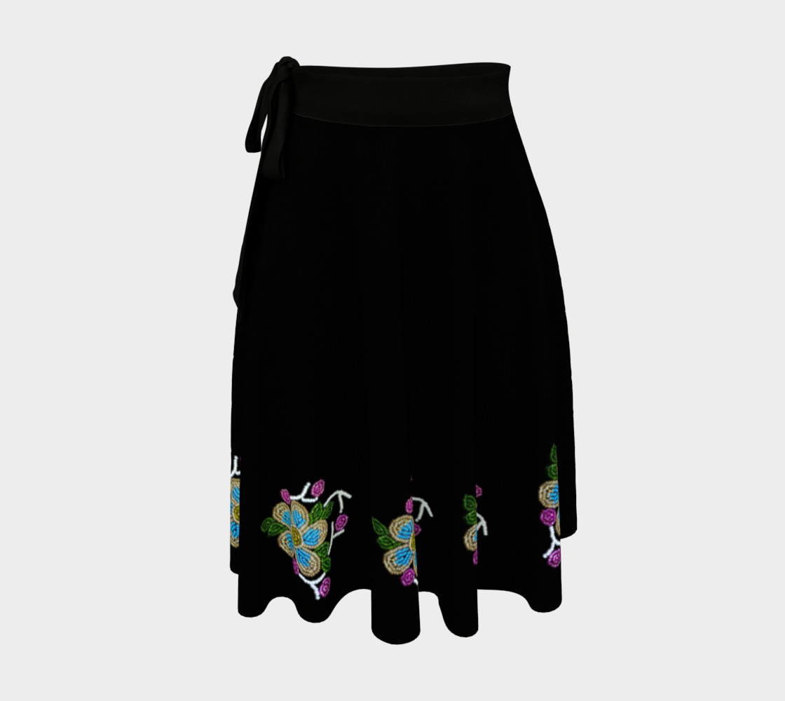 Ojibwe Beaded Floral Wrap Skirt - Authentic Beadwork Design preview #1