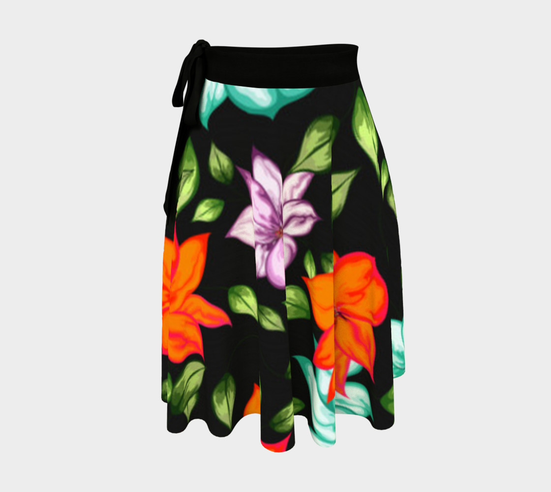 Bright Colorful Floral Skirt preview #1