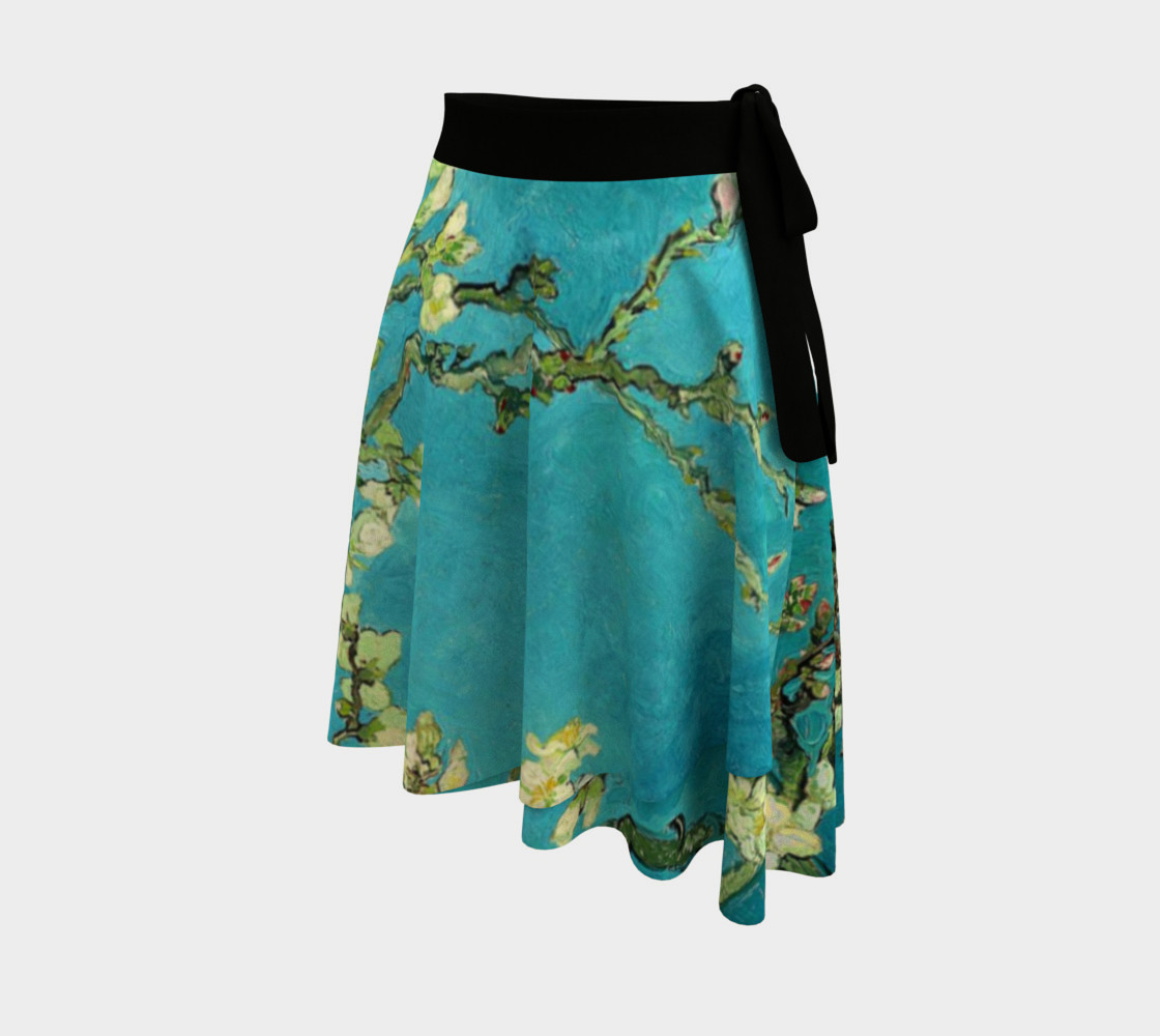 Vincent Van Gogh Blossoming Almond Tree Wrap Skirt preview #2