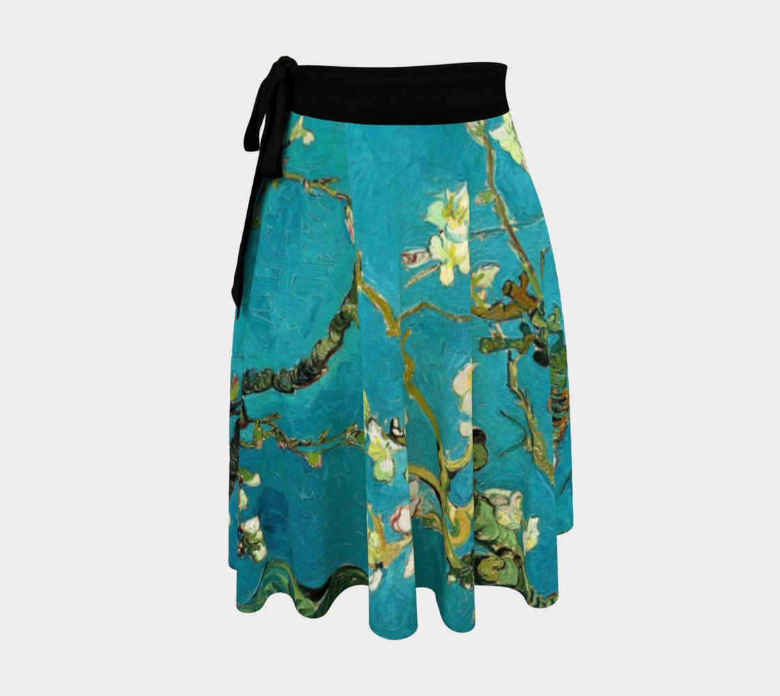 Vincent Van Gogh Blossoming Almond Tree Wrap Skirt preview #1