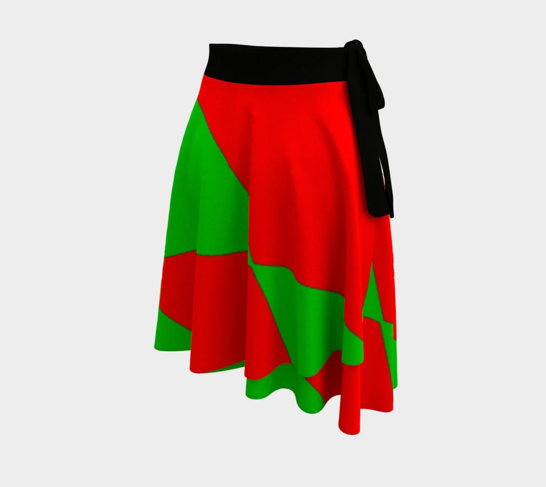 Christmas Harlequin Diamond Wrap Skirt preview #2