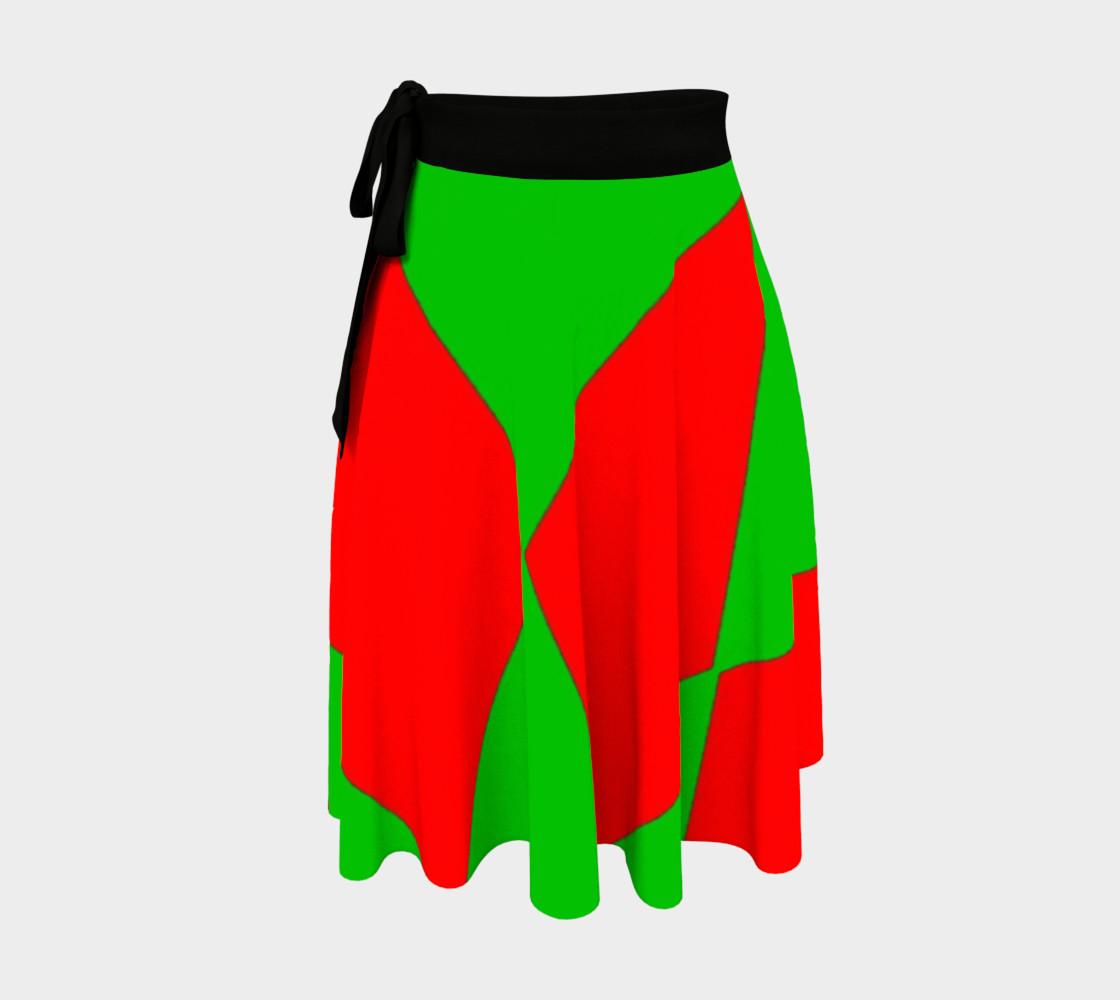 Christmas Harlequin Diamond Wrap Skirt preview #1