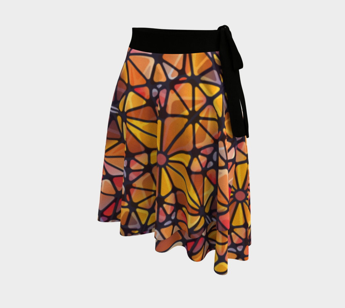 Amber Kaleidoscope Wrap Skirt preview #2