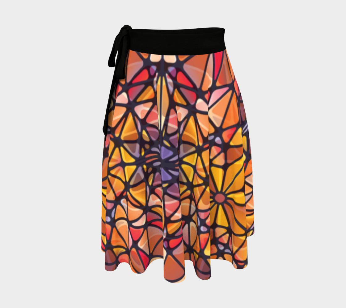 Amber Kaleidoscope Wrap Skirt preview #1