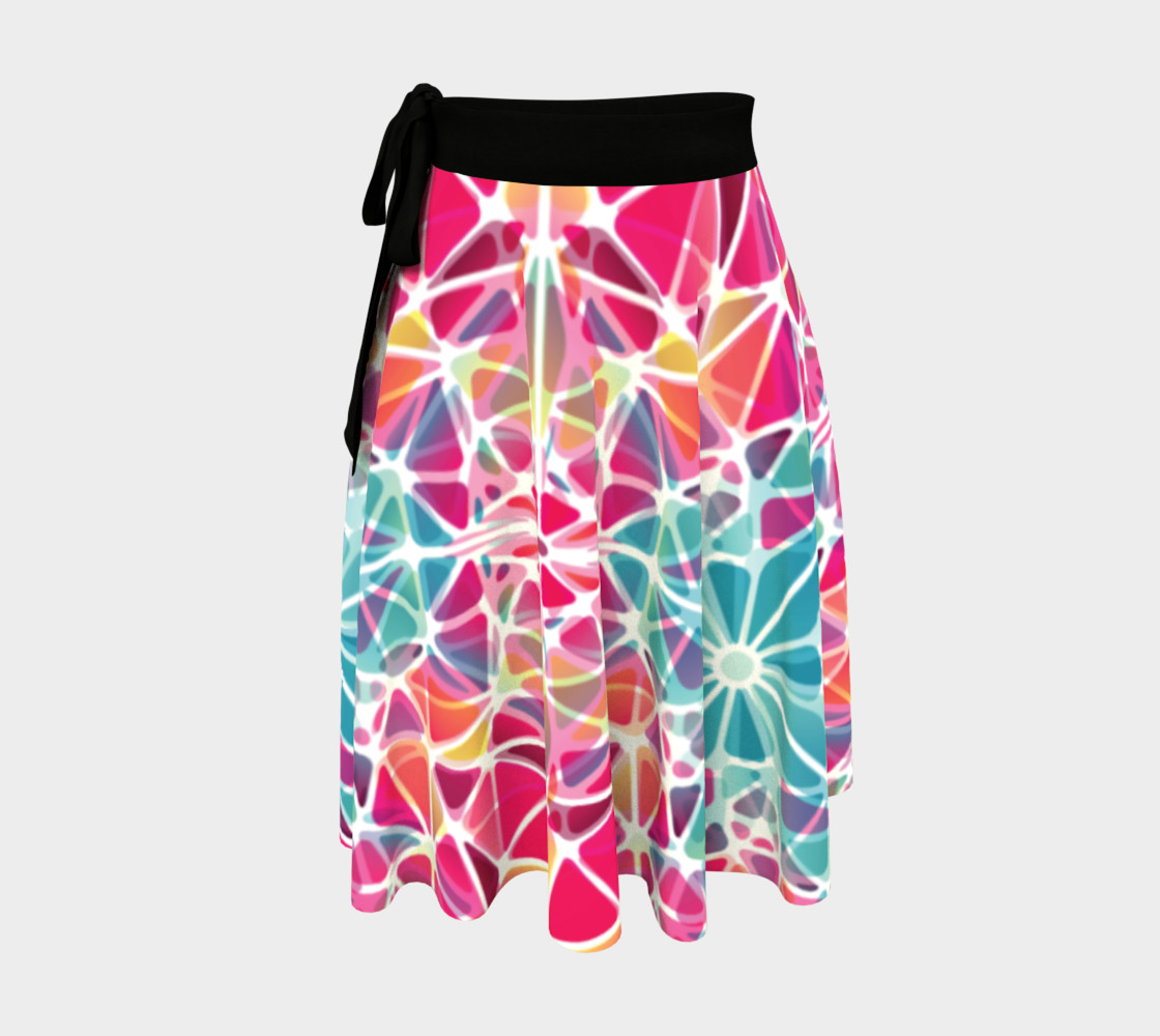 Pink and Blue Kaleidoscope Wrap Skirt preview #1