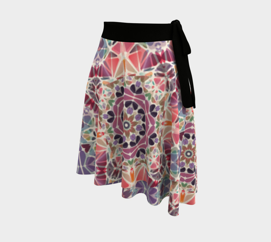 Purple and Pink Kaleidoscope Wrap Skirt preview #2