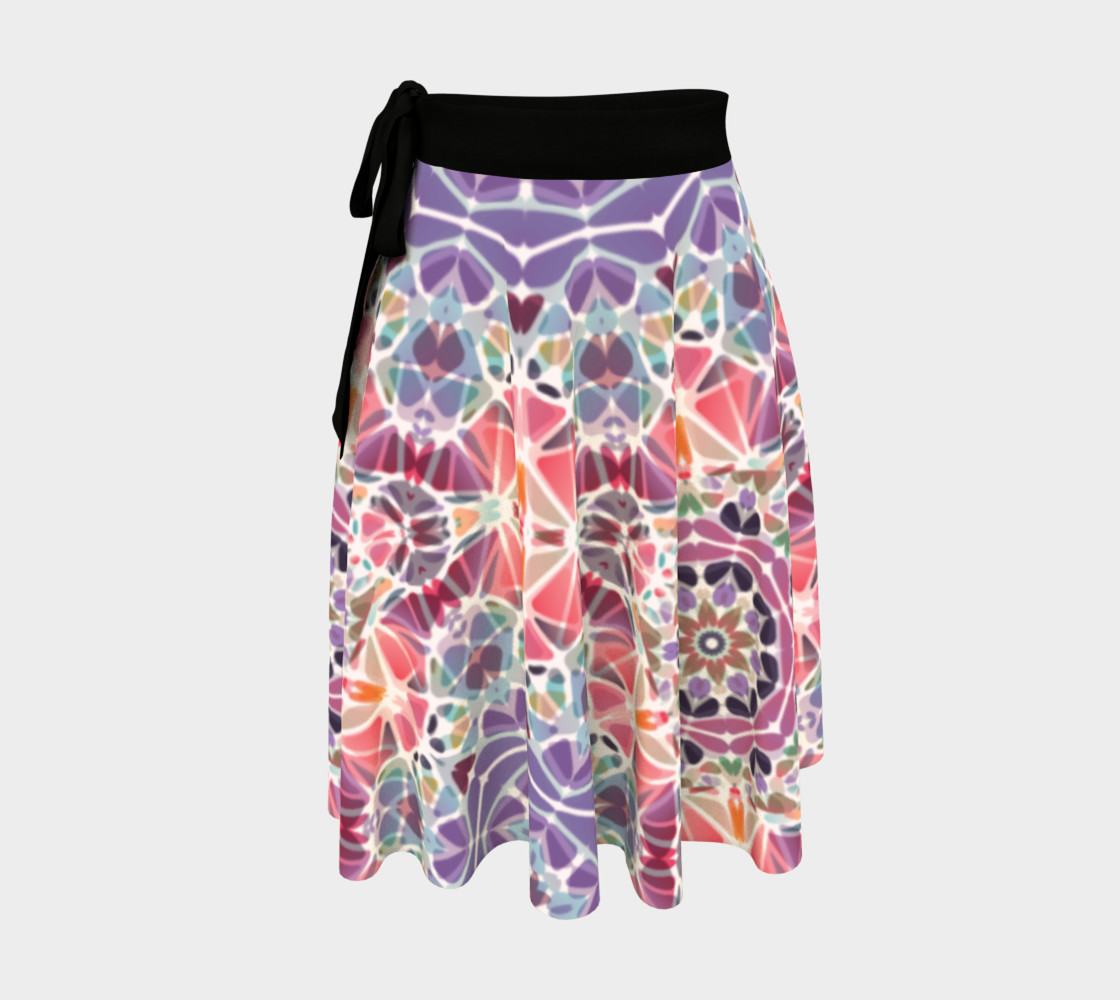 Purple and Pink Kaleidoscope Wrap Skirt preview #1