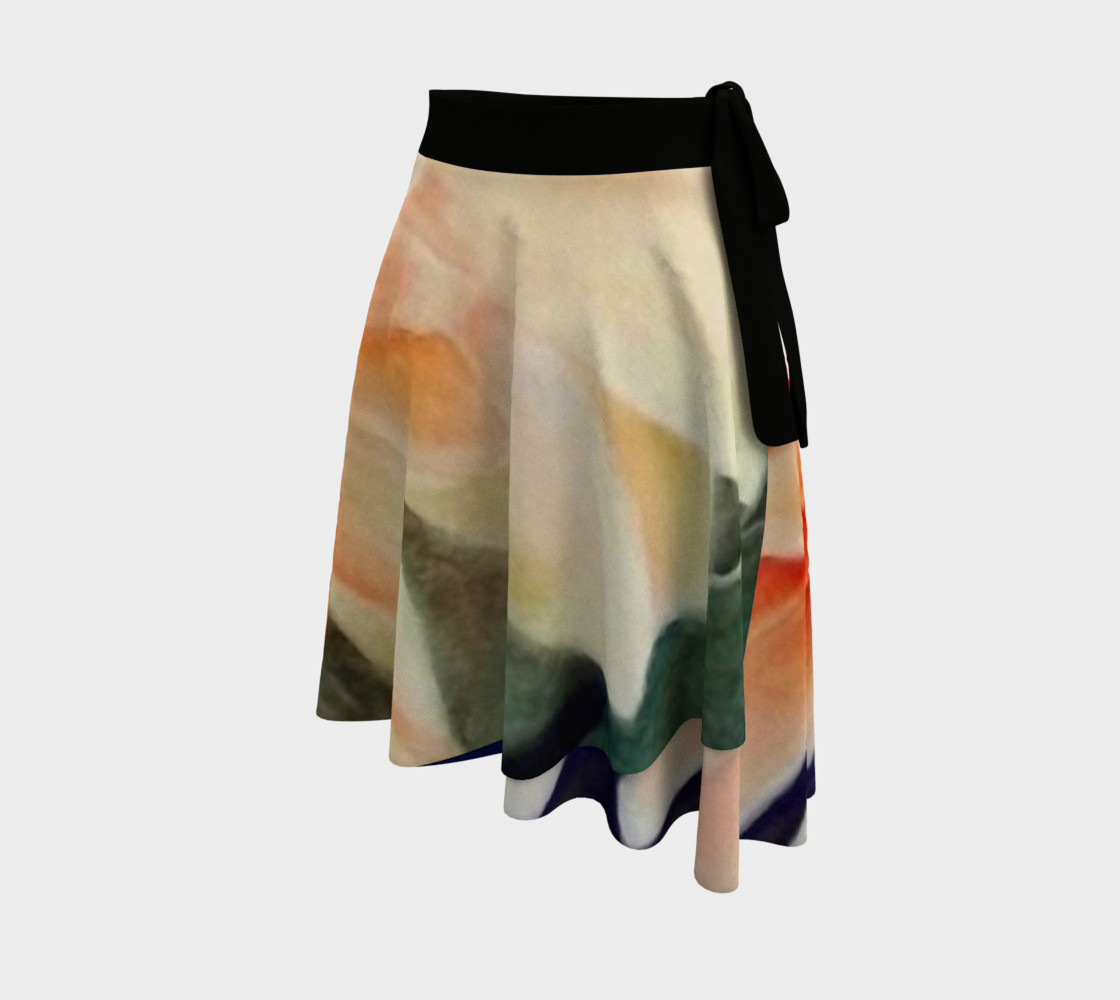 Orange Waterlily Wrap Skirt preview #2