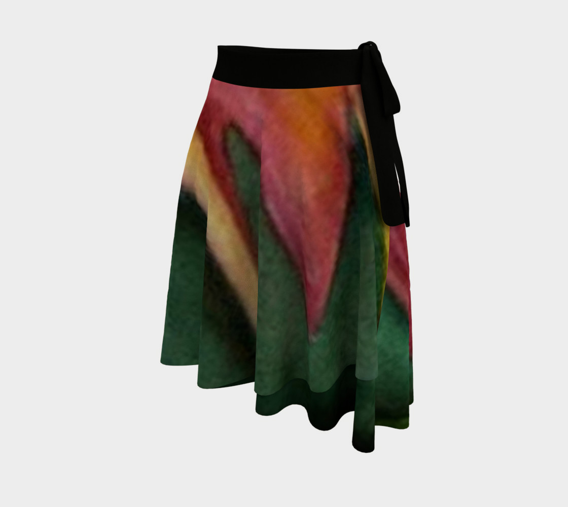 Red Orange Tulip Wrap Skirt thumbnail #3