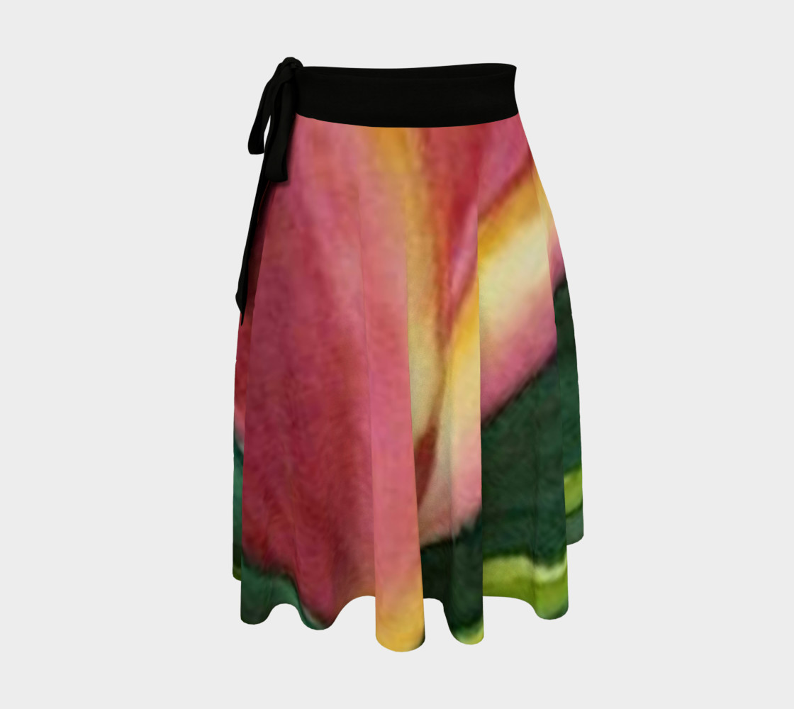 Red Orange Tulip Wrap Skirt 3D preview