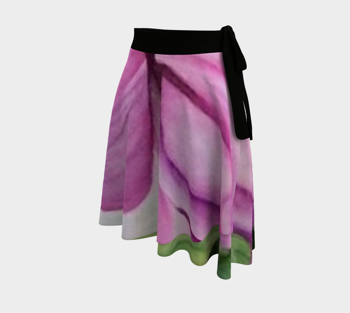 Pink Tropical Orchid Wrap Skirt Miniature #3