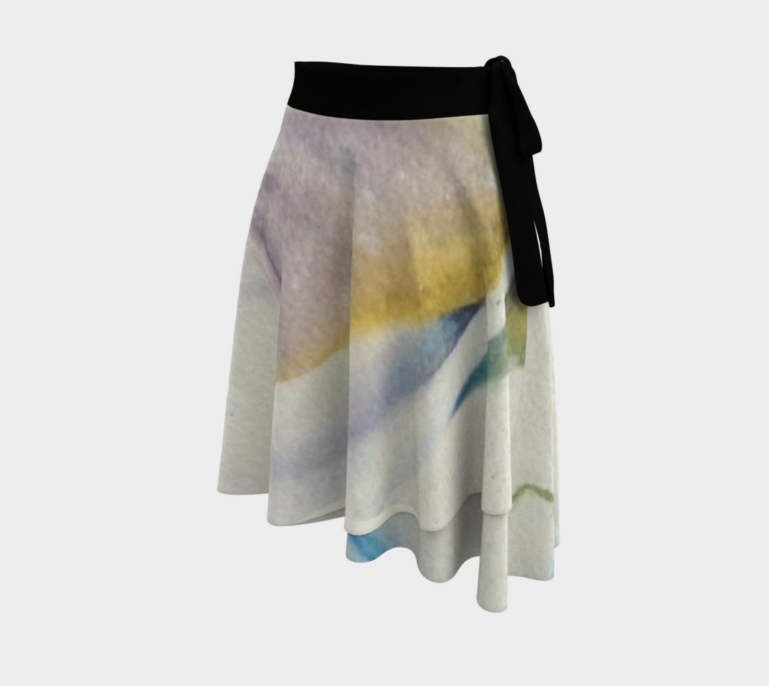 White Calla Lilies Wrap Skirt preview #2