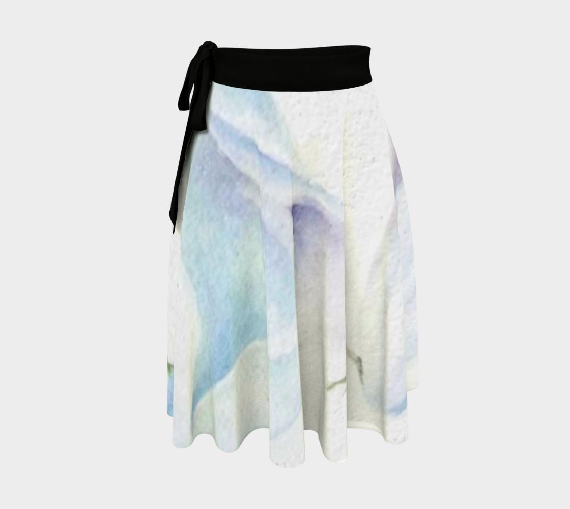 White Calla Lilies Wrap Skirt preview #1