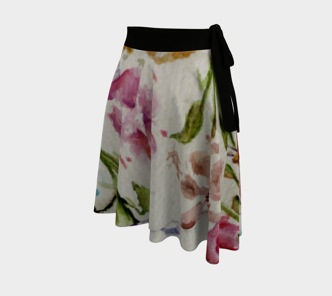 Whimsical Butterflies Wrap Skirt preview #2
