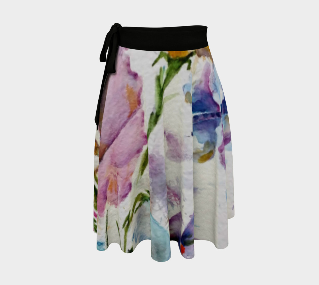 Whimsical Butterflies Wrap Skirt preview #1