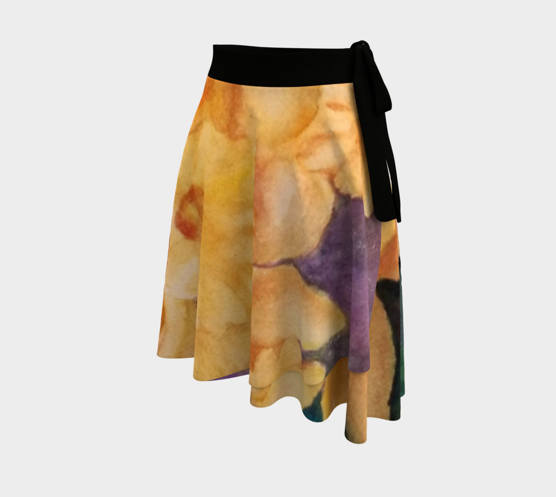 Yellow Daffodils Wrap Skirt preview #2
