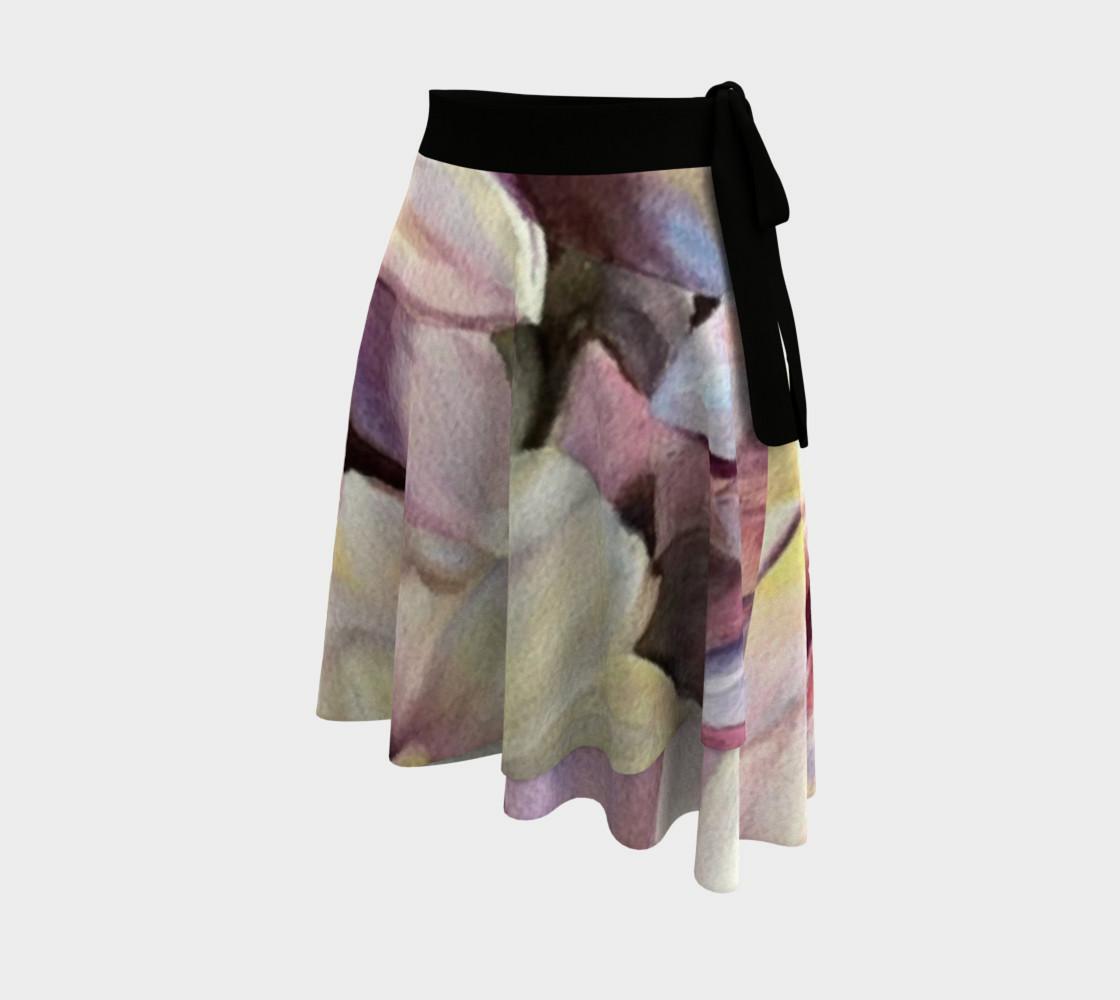 Purple Yellow Dahlia Wrap Skirt preview #2