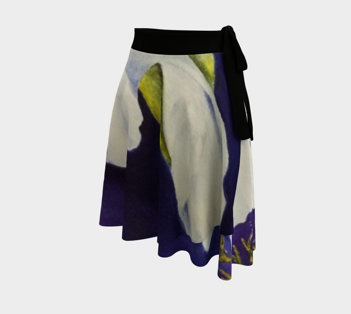 White Gladiolas Lady Bug Wrap Skirt preview #2