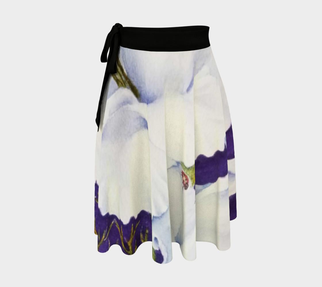 White Gladiolas Lady Bug Wrap Skirt preview #1