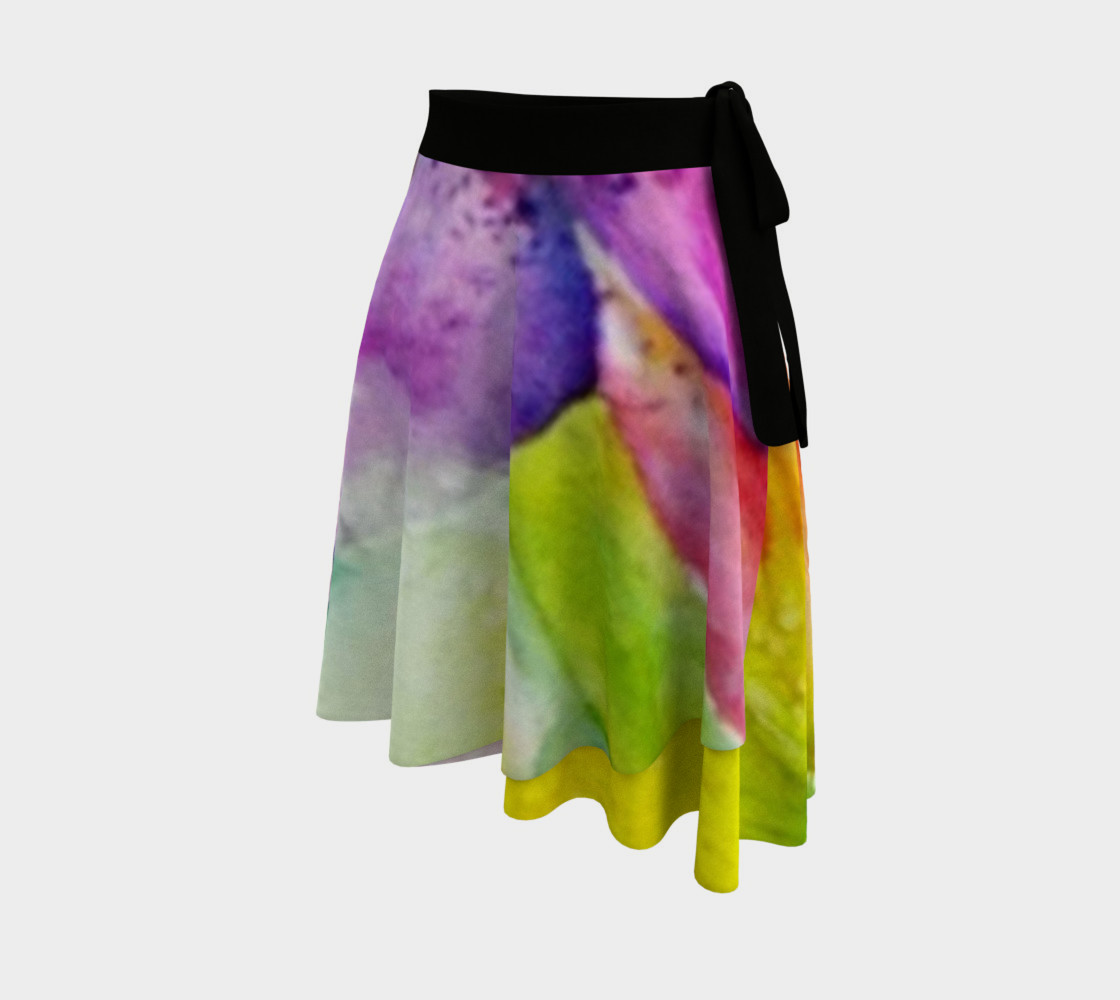 Neon Lily Petals Wrap Skirt preview #2