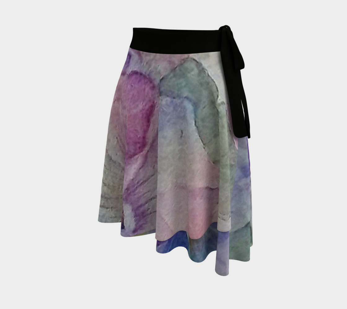 Colorful Pansy Party Wrap Skirt preview #2
