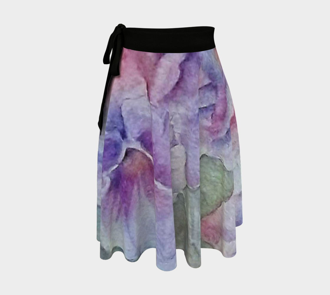Colorful Pansy Party Wrap Skirt preview #1