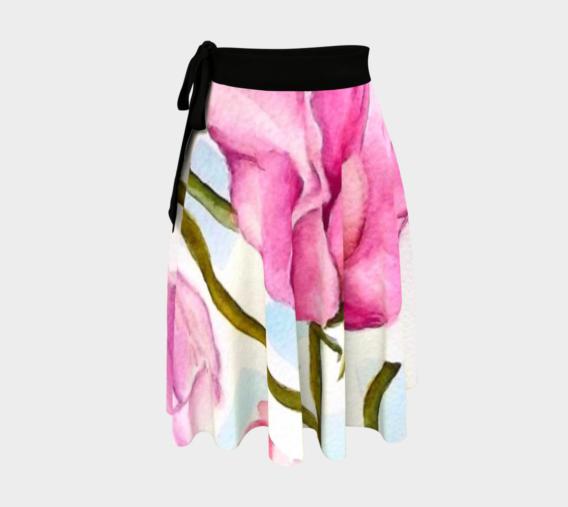 Colorful Sweet Peas Wrap Skirt preview #1
