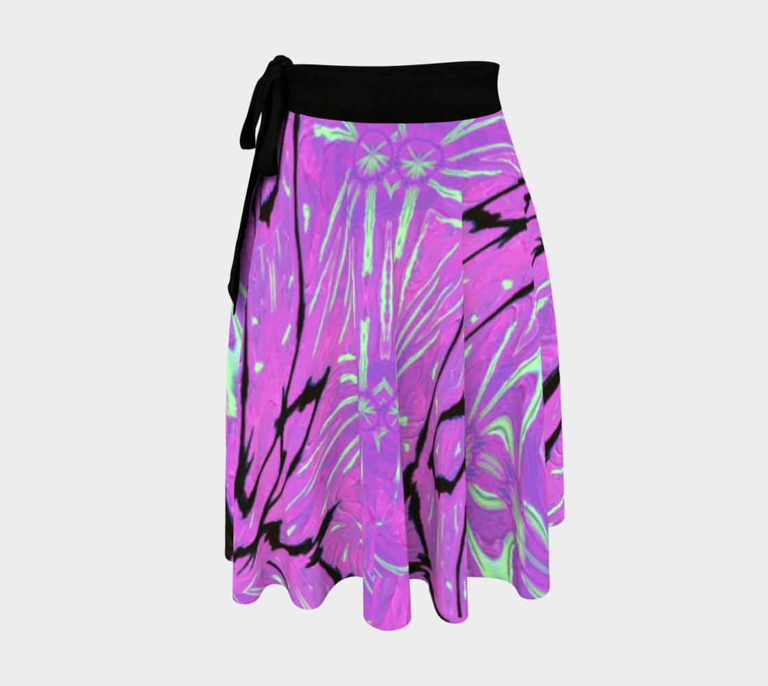 Crane of Paradise Graffiti Wrap Skirt preview #1