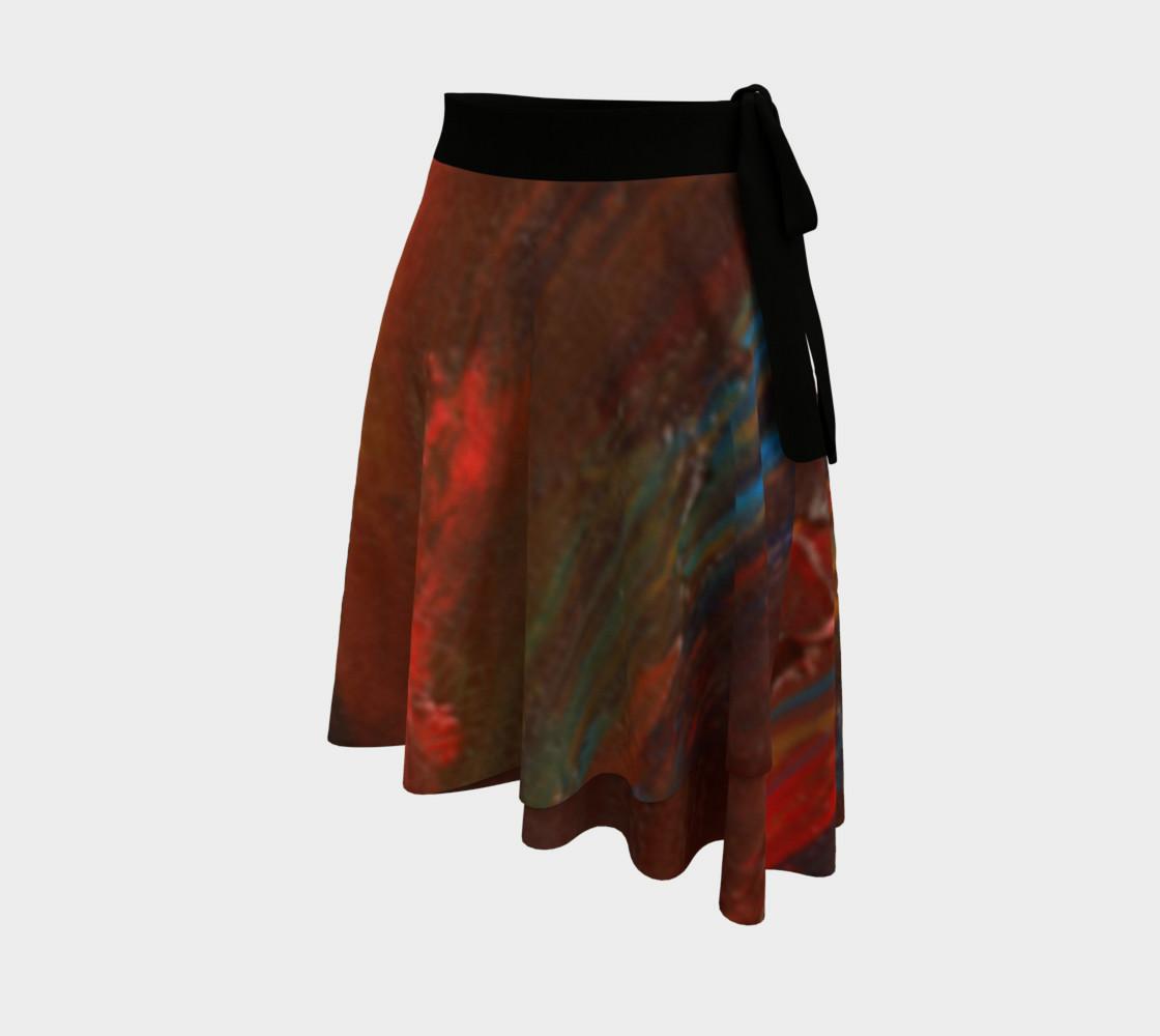 Crimson Ocean Wrap Skirt preview #2