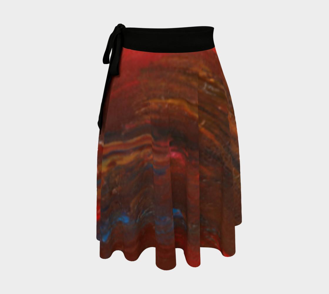 Crimson Ocean Wrap Skirt preview #1